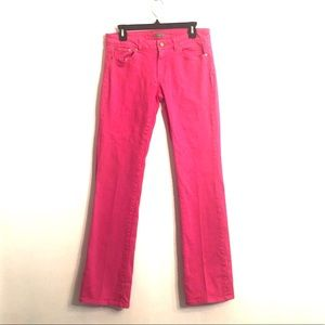 """[Lilly Pulitzer] Pink """"Palm Beach Fit"""" Jeans - 8"""